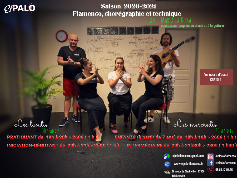 Cours Flamenco Programme 2020-2021
